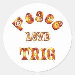 PEACE LOVE TRIG STICKER