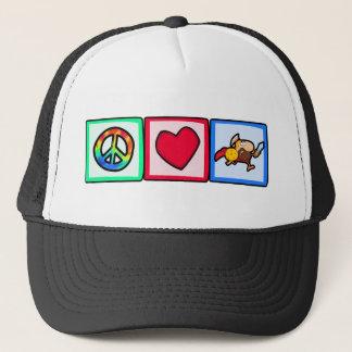 Peace, Love, Trojans Trucker Hat