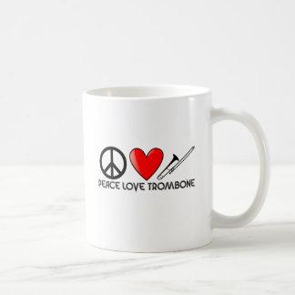 Peace, Love, Trombone Coffee Mug