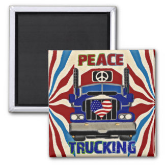 Peace Love Trucking Magnet