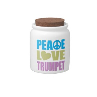 Peace Love Trumpet Candy Dish