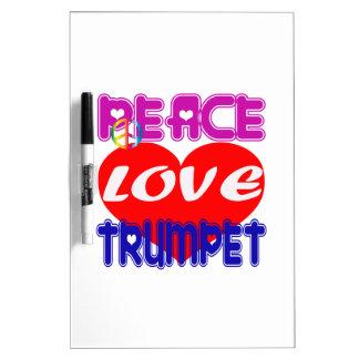 Peace Love Trumpet Dry Erase Boards
