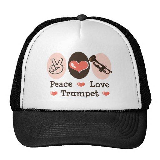 Peace Love Trumpet Hat