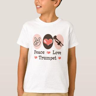 Peace Love Trumpet Kid T-shirt