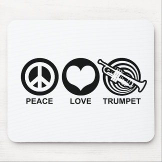 Peace Love Trumpet Mouse Pad