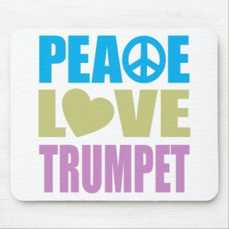 Peace Love Trumpet Mouse Pad