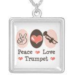 Peace Love Trumpet Necklace