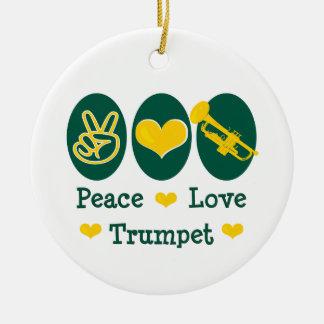 Peace Love Trumpet Ornament