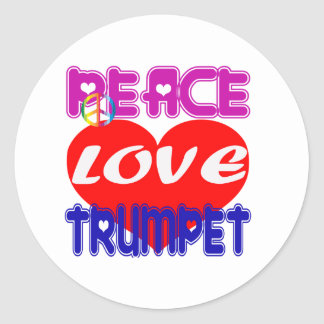 Peace Love Trumpet Sticker