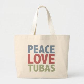 Peace Love Tubas Large Tote Bag
