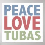 Peace Love Tubas Poster