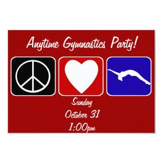 Peace Love Tumble 3.5x5 Paper Invitation Card