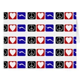 Peace Love Tumble Card