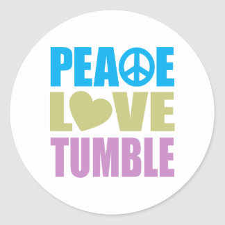 Peace Love Tumble Classic Round Sticker