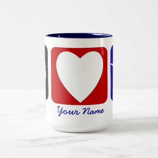 Peace Love Tumble Custom Mug