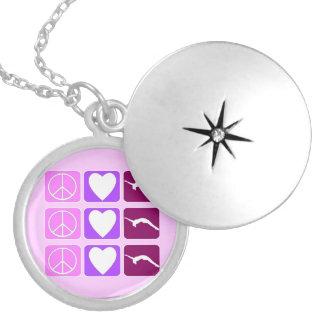 Peace Love Tumble locket