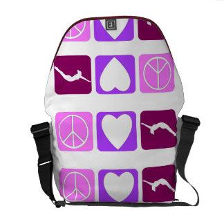 Peace Love Tumble Rickshaw Zero Messenger Bag