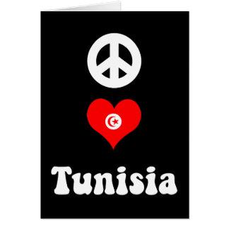 Peace love Tunisia Card