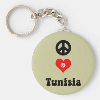 Peace love Tunisia Keychain