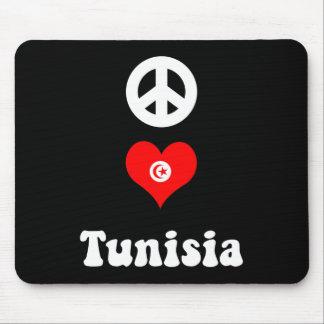 Peace love Tunisia Mouse Pad