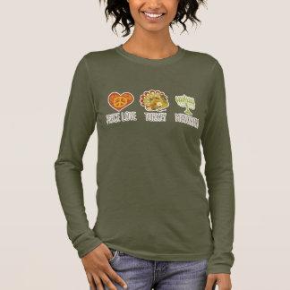 Peace Love Turkey Menorah Long Sleeve T-Shirt