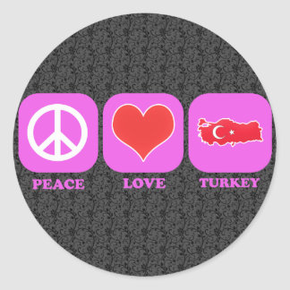 Peace Love Turkey Stickers