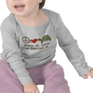 Peace Love Turtle Infant Long Sleeve Tee