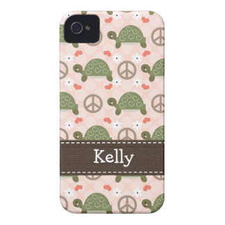 Peace Love Turtle iPhone 4 4s Case-Mate Cover