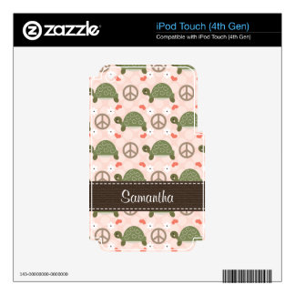 Peace Love Turtle iPod Touch 4g 4th Gen Skin iPod Touch 4G Skin