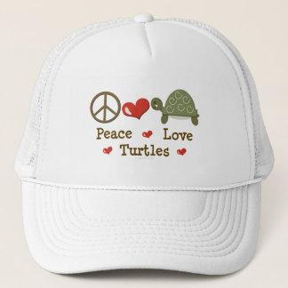 Peace Love Turtles Cap