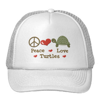 Peace Love Turtles Cap Trucker Hat