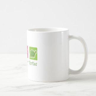 Peace Love Turtles Coffee Mug