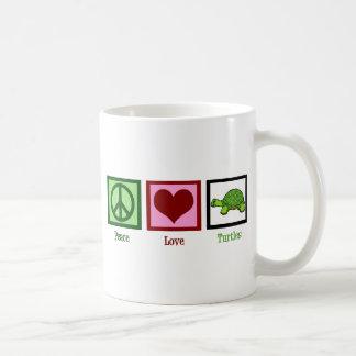 Peace Love Turtles Coffee Mugs