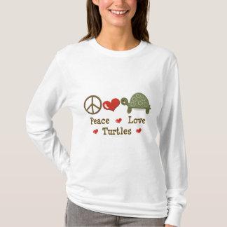 Peace Love Turtles Long Sleeve Tee Shirt
