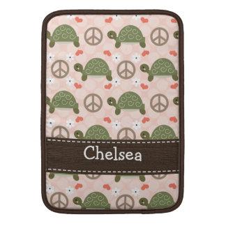 Peace Love Turtles Macbook Air Sleeve 13 and 11 In