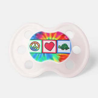 Peace, Love, Turtles Pacifiers
