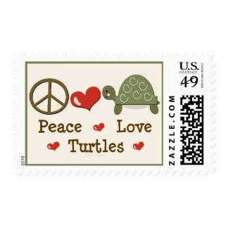 Peace Love Turtles Postage Stamp