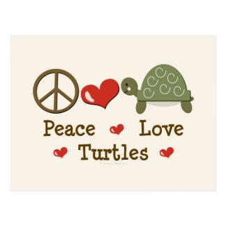 Peace Love Turtles Postcard