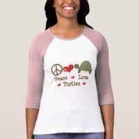 Peace Love Turtles Raglan T shirt