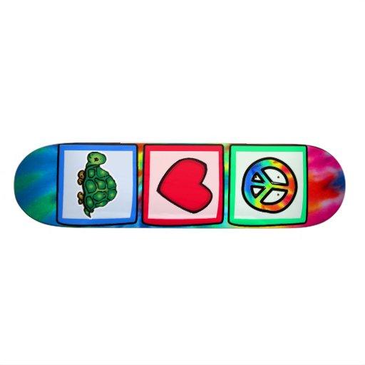 Peace, Love, Turtles Skate Deck
