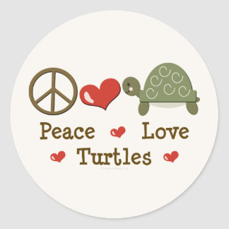 Peace Love Turtles Stickers