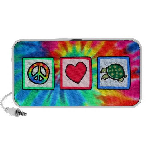 Peace, Love, Turtles Travelling Speakers
