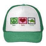 Peace Love Turtles Trucker Hat