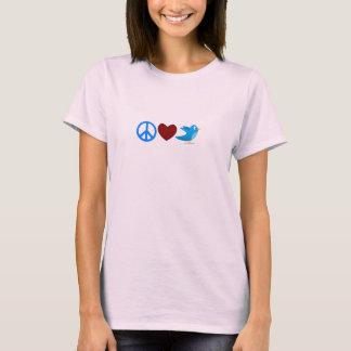 PEACE LOVE TWEET (WOMENS) T-Shirt