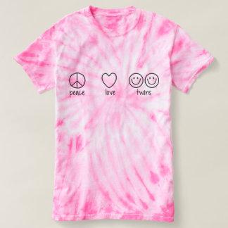 Peace, Love, Twins (Cyclone Tie Die) T-shirt