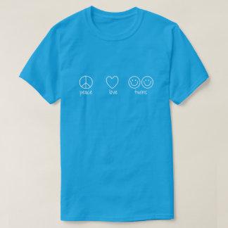 Peace, Love, Twins (Dark) T-Shirt