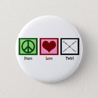 Peace Love Twirl Button