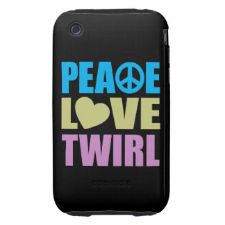 Peace Love Twirl Tough iPhone 3 Covers