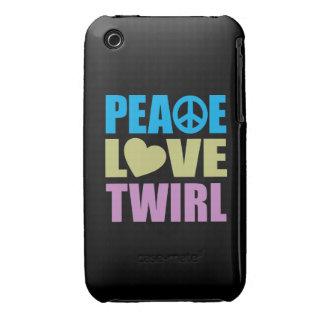 Peace Love Twirl Case-Mate iPhone 3 Cases