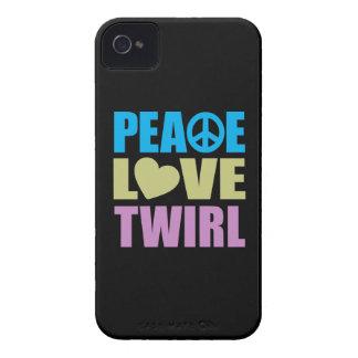 Peace Love Twirl iPhone 4 Case-Mate Case